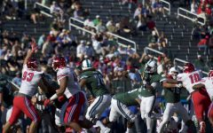 Seniors dominate in final game of season, seize 38-13 win over UConn