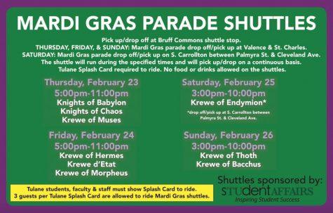 tulane parade schedule mardi gras