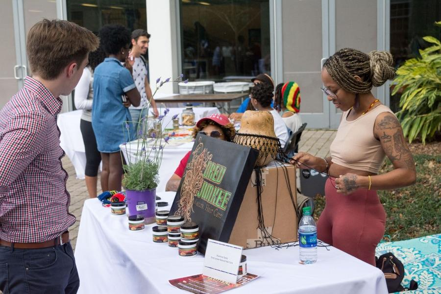 The Black Arts Festival, which will run through March 24, features workshops, lectures and more. The Black Art Market (above) at Pocket Park last week kicked off the festival. The market aimed to increase the exposure of black vendors and artists by featuring over 15 local business owners.