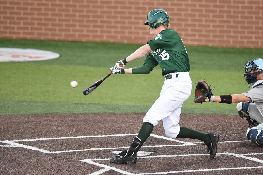 Freshman third baseman Kody Hoese takes a swing during the Green Wave's weekend series against Columbia on March 20th. Tulane was 2-1 on the series.