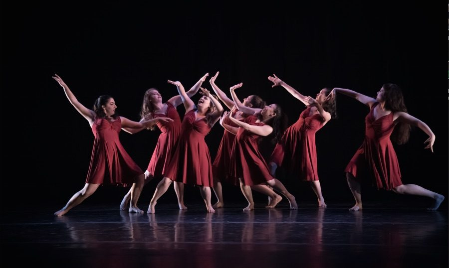 Members+of+the+Tulane+Dance+Program+perform+at+An+Evening+of+Dance.+The+annual+concert+took+place+Feb.+10+through+12+in+Dixon+Hall.+The+Newcomb+Dance+Company+will+be+performing+at+the+American+College+Dance+Festival+this+weekend.