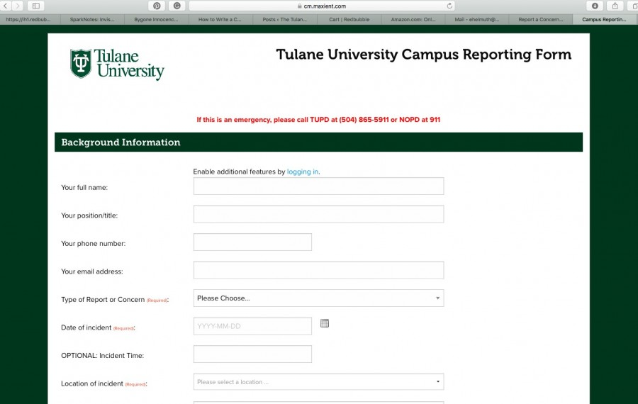 Students can use the concerns form on the student affairs website to report discrimination, bias or academic-related incidents.