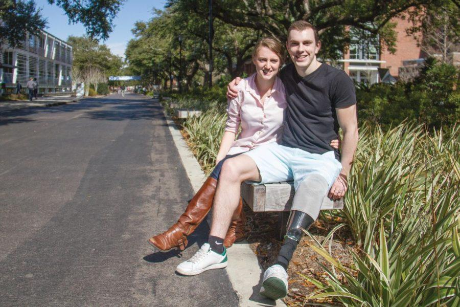 Pictured above are junior Billy Coombs and his girlfriend, junior Katie Seibert. Coombs and Seibert celebrated their two-year anniversary Tuesday.