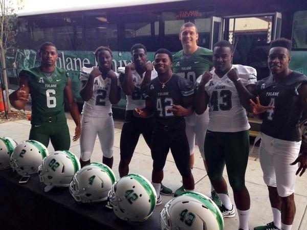 Green Wave football debuts new look