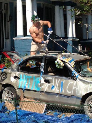 Zeta Psi hosts second annual car bash to benefit Aishel House