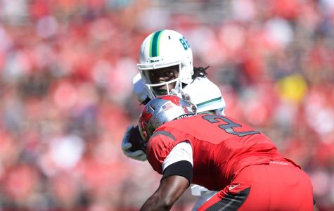 Freshman Leondre James catches a pass in the 31-6 loss to Rutgers in Piscataway, New Jersey.