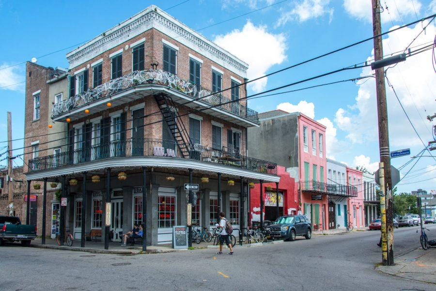 Frenchmen Street in the Daylight, a rare sight for Tulane Students. Marigny, New Orleans, October 11, 2014