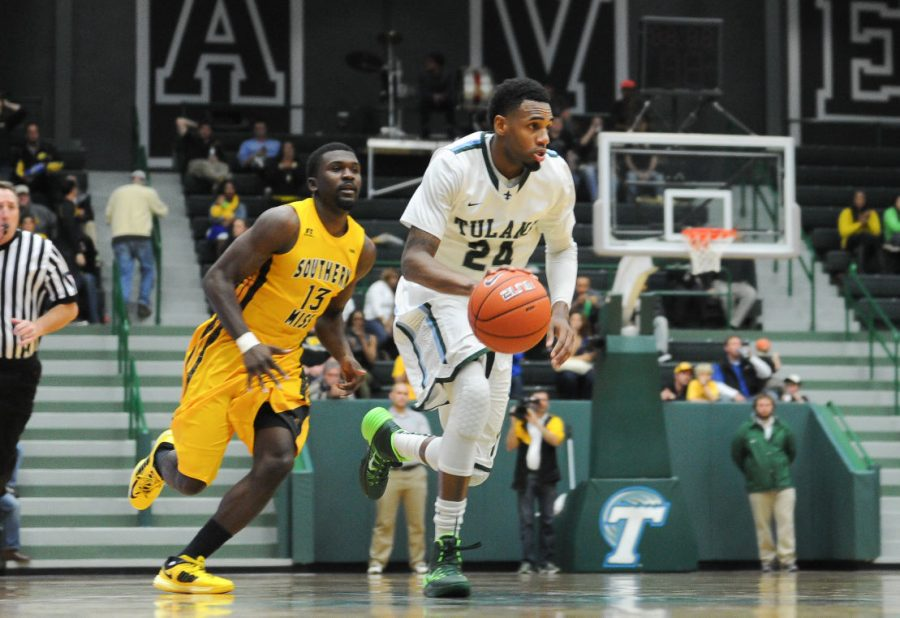 Junior+guard+Jay+Hook+blows+by+a+defender+in+an+exhibition+game+against+Loyola.+Hook+scored+18+points+in+the+100-61+victory+against+Mississippi+Valley+State+Thursday.%C2%A0