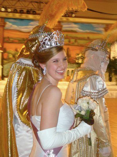 Miriam Lobrano is pictured above as a maid of Babylon during her junior year.