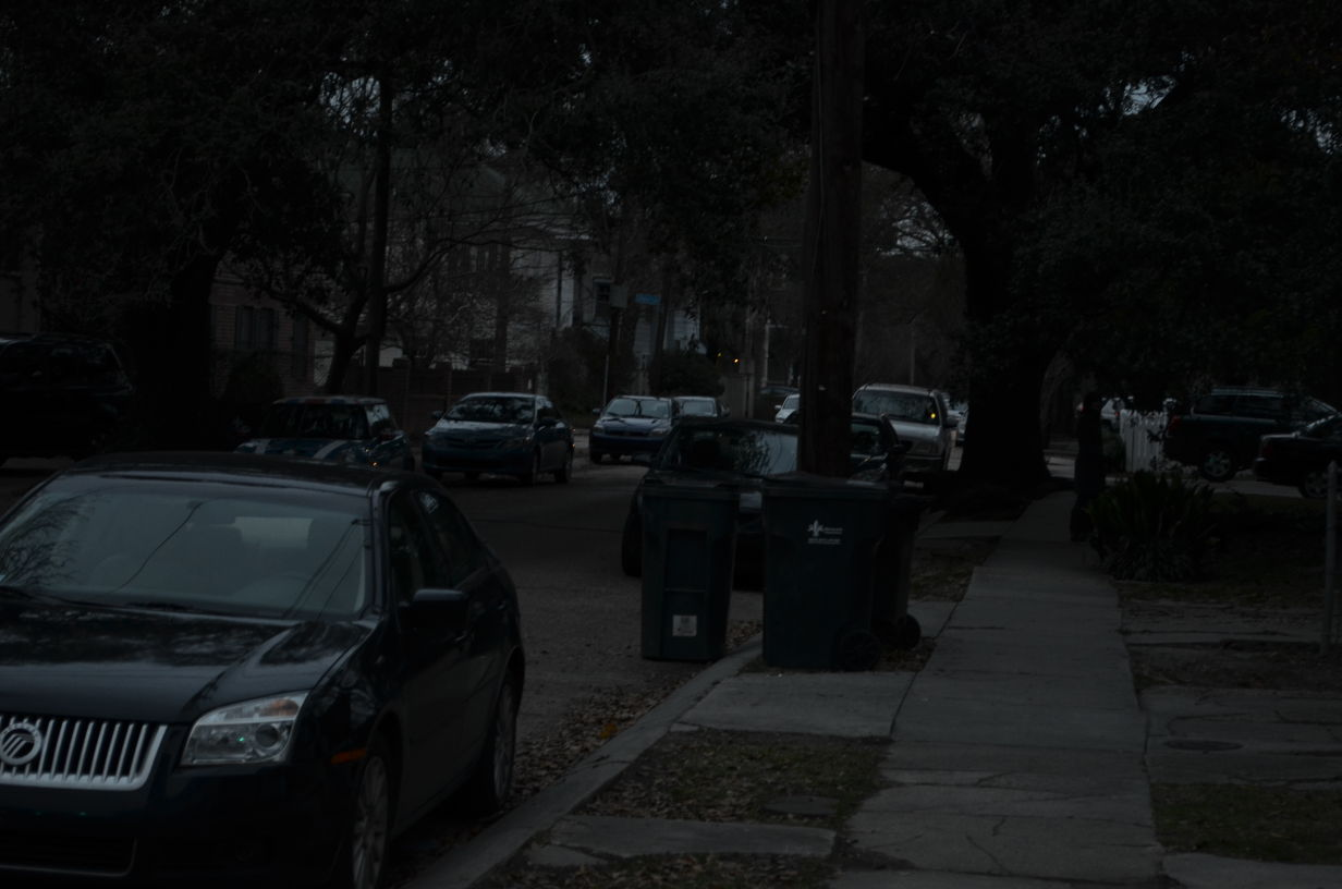 Lack of lighting on Palmer Avenue and Calhoun Street show need for additional street lights.