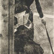 Pictured above is a sketch of a woman done by author Edgar Degas. This picture depicts a work similar to those presented in the Newcomb Art Gallery exhibition.