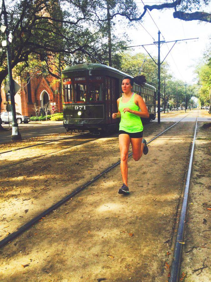 Liz Cowle trains for her 4,000 mile run from San Fransisco to Baltimore to begin this summer for young adult cancer awareness and fundraising.