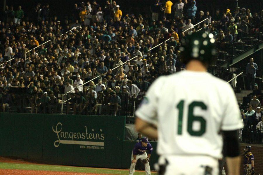 Tulane+Athletics+announced+4%2C994+fans+attended+Tuesday+night%27s+game+featuring+No.+1+LSU+and+Tulane.%C2%A0