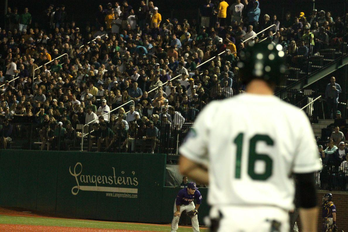 Tulane Athletics announced 4,994 fans attended Tuesday night's game featuring No. 1 LSU and Tulane.