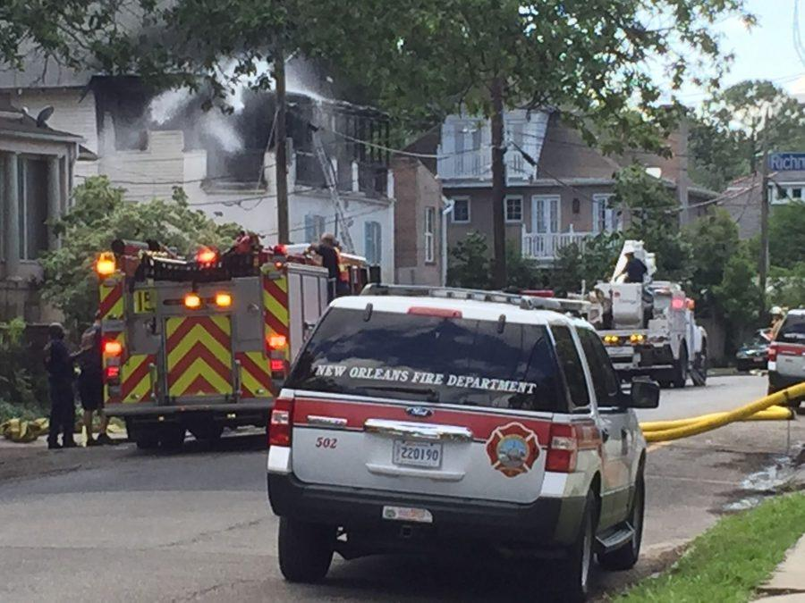 A fire on Wednesday afternoon damaged a residential complex on Freret St.