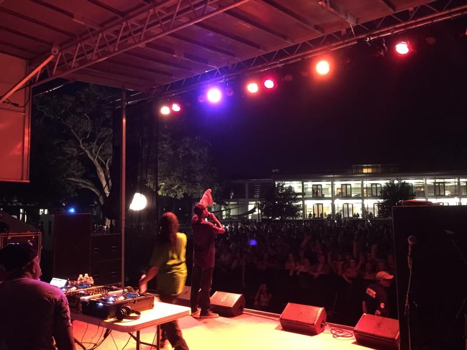 Ying Yang Twins rock the stage at Tulane's First Wave Concert.