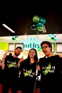 Pickles' grand opening last Monday involved free samples and prizes such as t-shirts and pencils.
