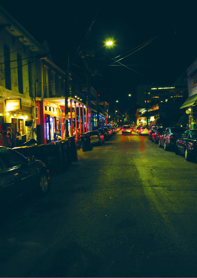 Frenchman Street is a popular destination for Tulane students during Halloween celebrations. The street has several restaurants, clubs and bars and will be crowded with costumed patrons.