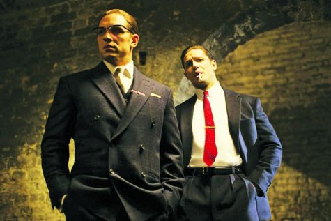 Tom Hardy plays the Kray brothers in