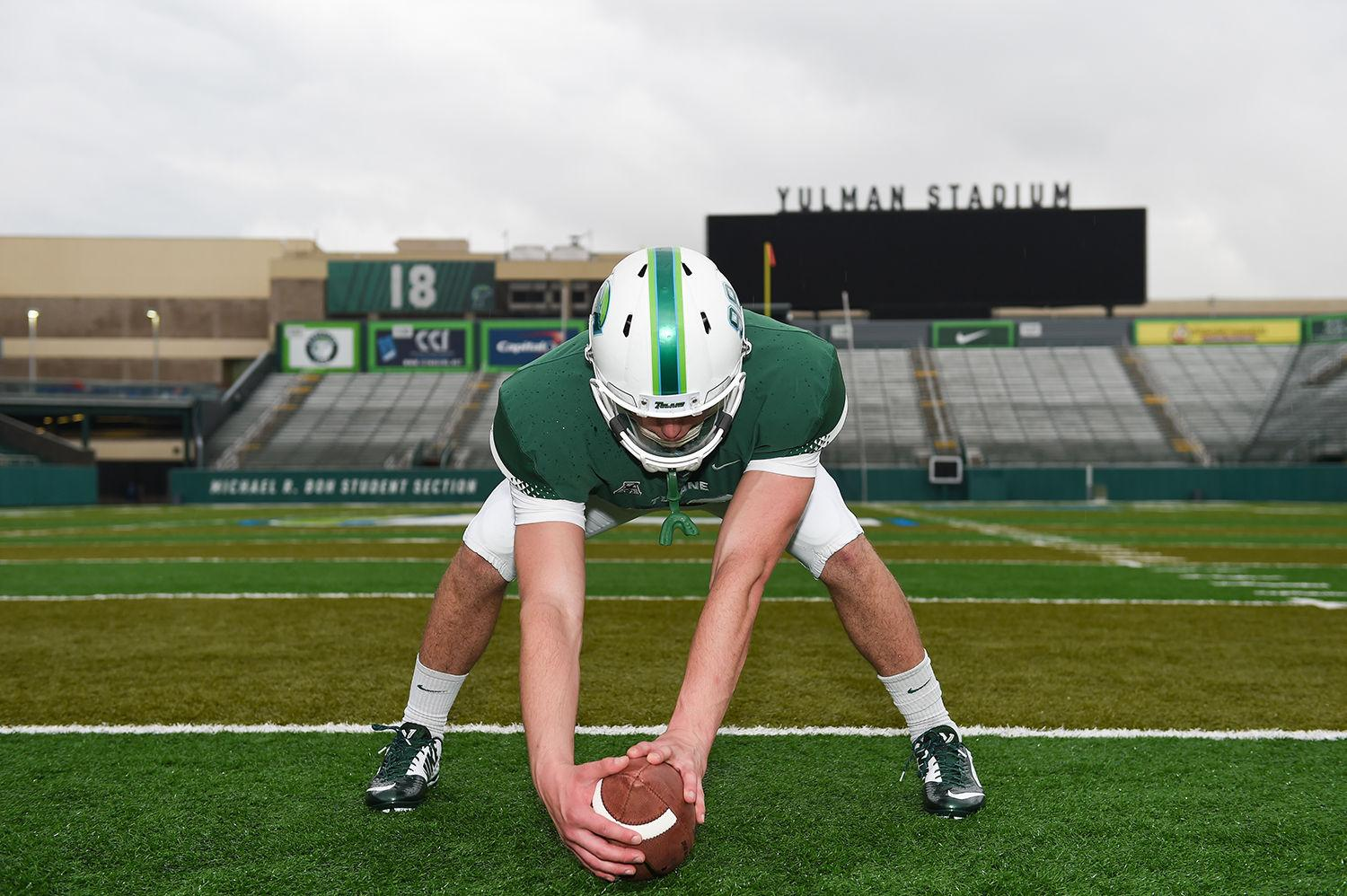 Golub who has no vision in his right eye and limited in his left made history when he took the field in a 45-31 win over Central Florida on Oct. 3 as the first legally blind athlete to play for a Football Bowl Subdivision program in an NCAA game.