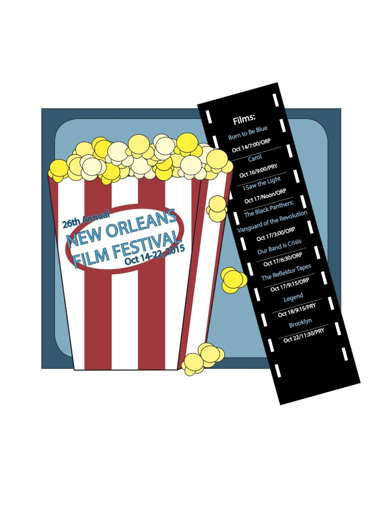 The 26th annual New Orleans Film Festival will feature many films including an opening and closing screening, a centerpiece and eight spotlight films.