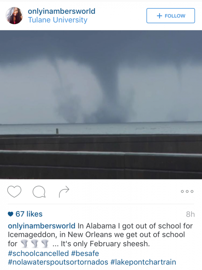 Tulane+student+instagrams+a+picture+of+tornadoes+touching+down+on+Lake+Ponchatrain%C2%A0