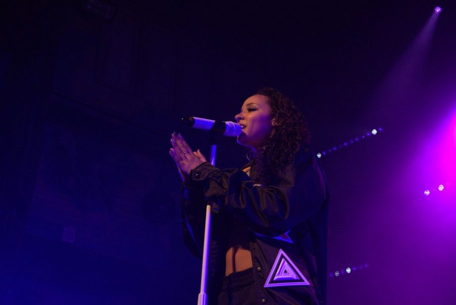 Tinashe performs during her 'Joyride' tour March 24 at the House of Blues. Her show balanced high-energy, elaborately choreographed performances with slower, sentimental songs.
