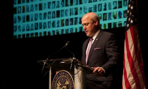 Mayor Landrieu gives speech on crime in New Orleans