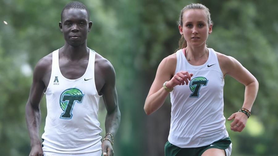 Moses+Aloiloi+and+Emma+Newton%2C+two+of+Tulane+cross+country%27s+top+competitors%2C+are+expected+to+help+lead+the+team+to+victory+this+fall.