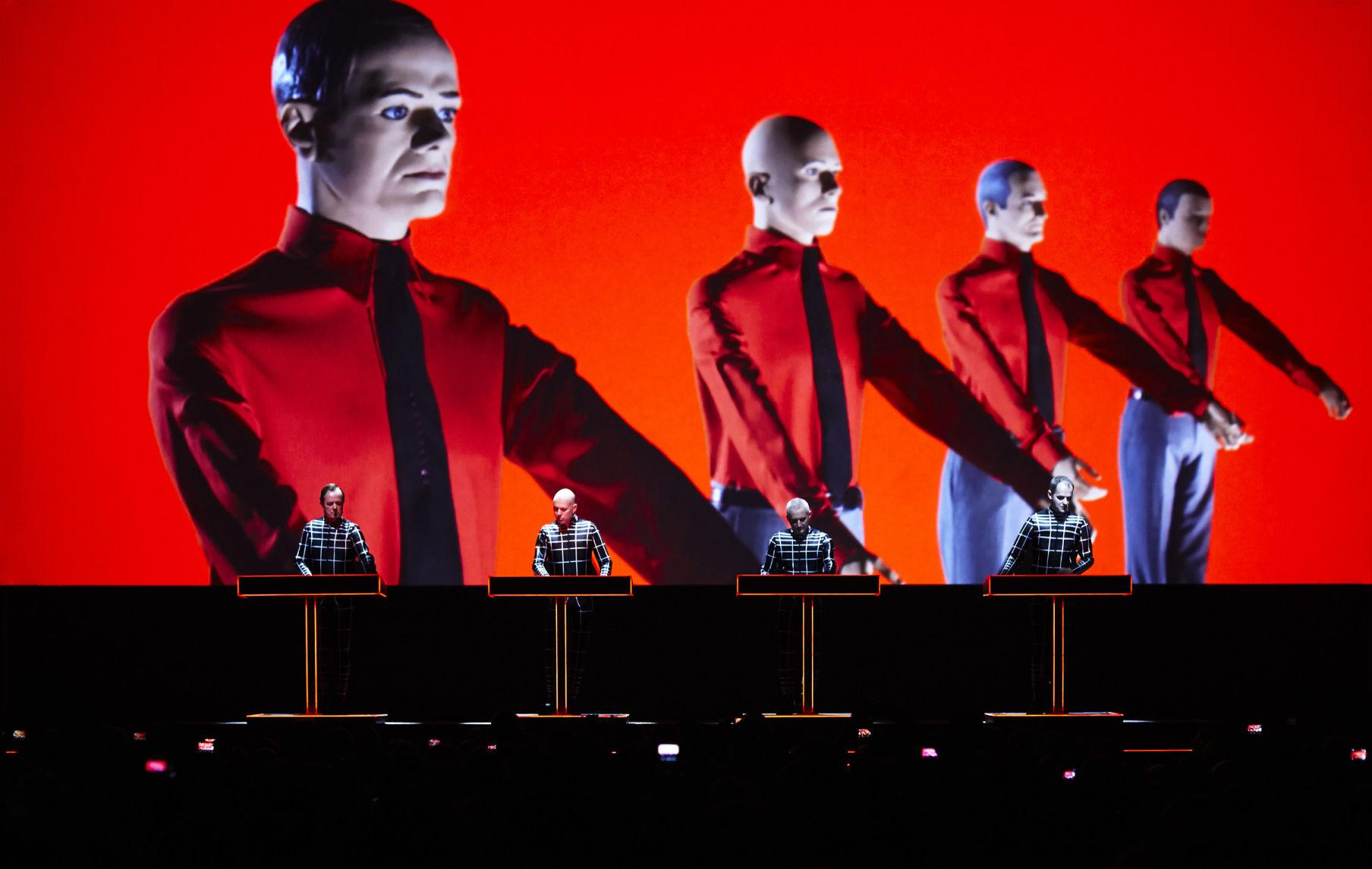 Kraftwerk uses creative and unorthodox visuals during concert.