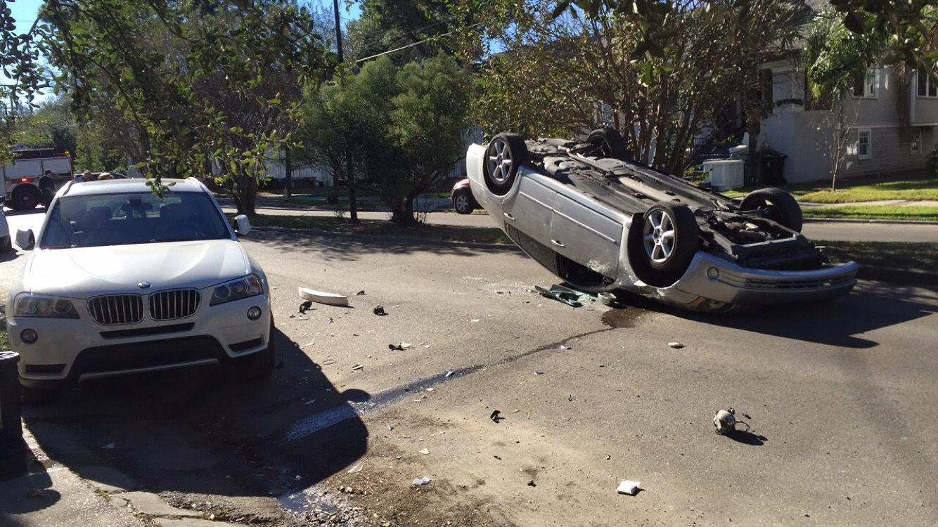 A car accident occurred at approximately 2:20 p.m. Sunday at the intersection of Birch and Broadway street.