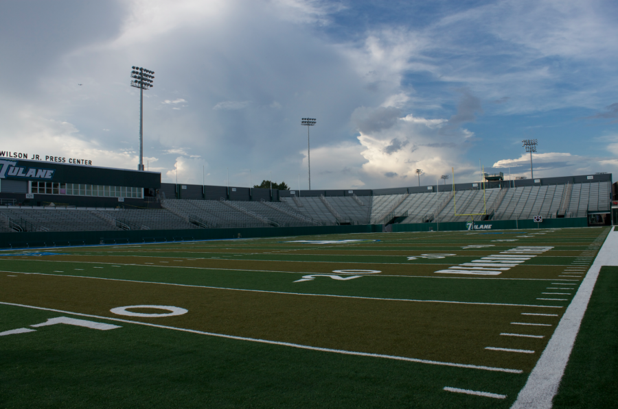 Yulman+Stadium+was+built+on+Tulane%27s+campus+in+2013+and+hosts+the+Green+Wave+home+football+games.+With+Donald+Peter%27s+%242.5+million+dollar+contribution+to+athletics%2C+facilities+like+Yulman+and+the+adjoining+Reily+Center+may+soon+get+an+upgrade.