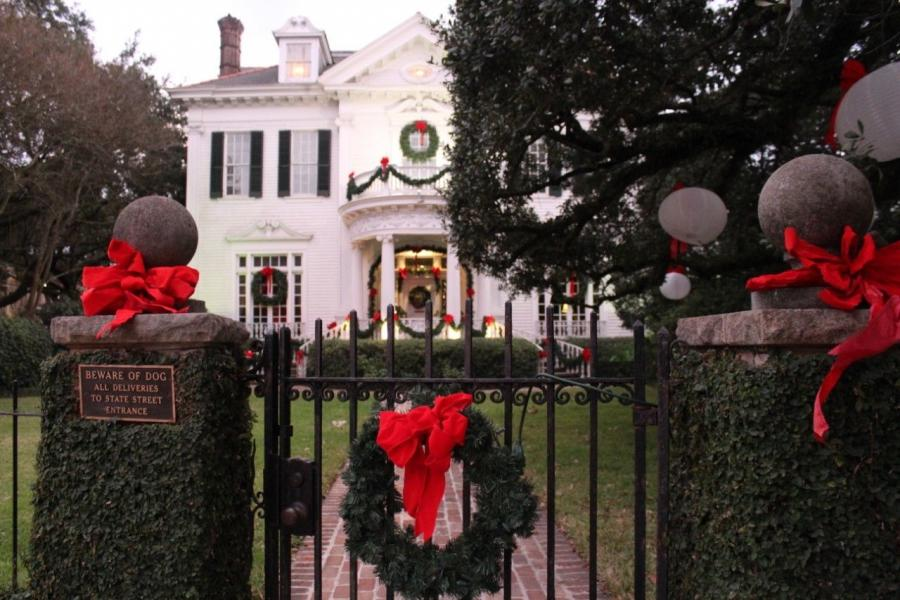 Homes around the city are decked out in lights, wreaths, bows and more to celebrate the season.