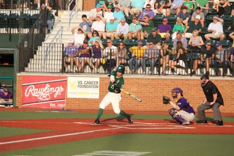 Senior left fielder Jarret Dehart takes a swing during Tulane's 4-1 win against LSU on April 26, 2016 at Greer Field at Turchin Stadium. Tulane's first matchup against LSU in the 2017 season will be on March 28 in Baton Rouge.