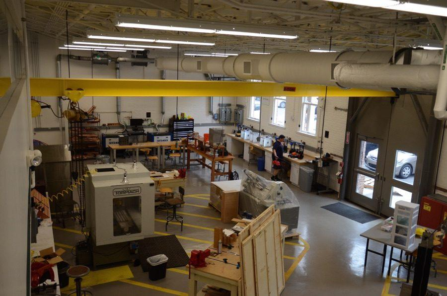 The MakerSpace is equipped with 3D printers, laser cutters and milling machinery.