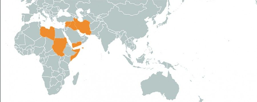 travel ban impact reaches tulane tulane university map affected countries