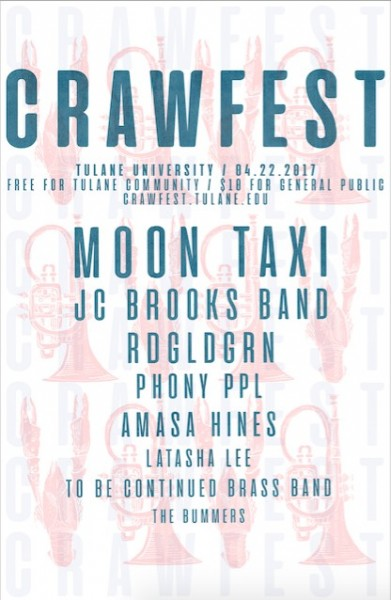 Crawfest releases initial lineup