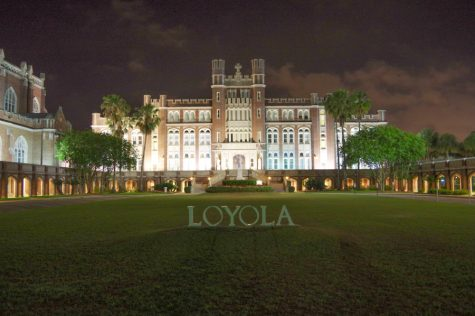 An ancient photo of all of the Loyola letters in their rightful place. Since the time of this photo, the letters have scattered across many lands near and far. Most are doing well but some have suffered.