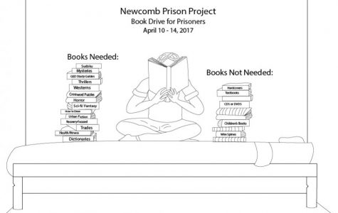 On-campus book drive seeks to provide support, education to local prison population