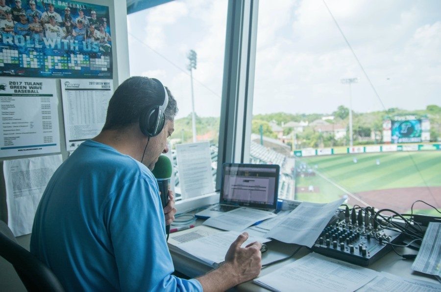 From his radio booth in the press box behind home plate, Todd Graffagnini can see every hit, strike and home run. Graffagnini calls each play with experience having performed the job for more than 20 years. Graffagnini has become the voice of Green Wave Athletics.