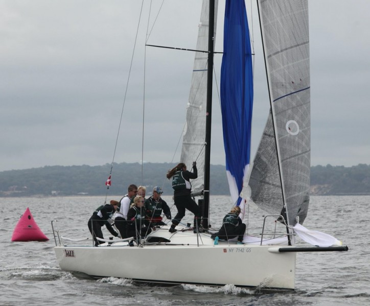 Members of the Tulane club sailing team battle the waters of Lake Pontchartrain. Although the team is still building and lacks official coaching, the sailing team will be sending members of it's team to nationals, and hopes to expand further in the future.