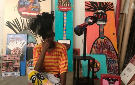 Local artist channels inner Basquiat with abstract art