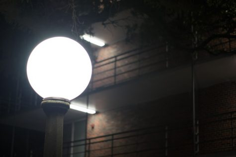TUPD installed additional lighting as part of this semester's campus safety initiative.
