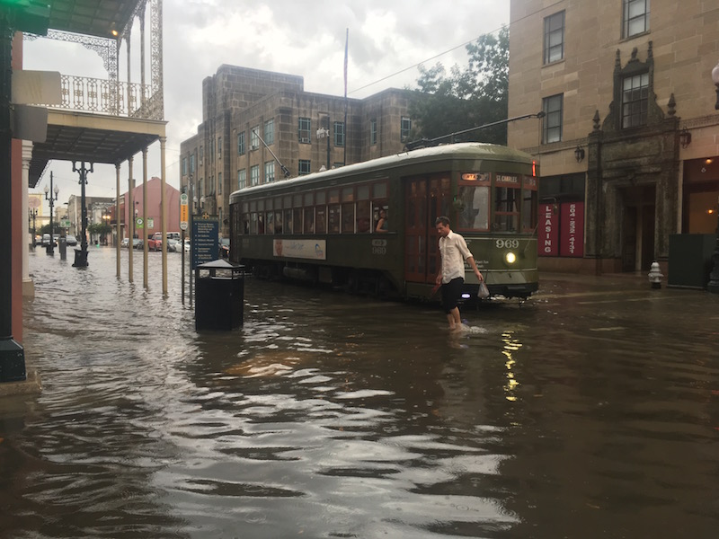 Flooding+in+the+Central+Business+District+and+Mid-City+left+16+drainage+pumps+out+of+service+and+forced+pedestrians+to+wade+through+several+feet+of+water+as+regular+traffic+was+disrupted.