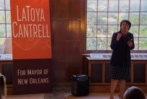 Mayoral candidate LaToya Cantrell hosted a Q&A for Tulane and Loyola students in the Josephine Louise Ballroom on Wednesday to address concerns related to policing, discrimination and LGBTQ+ issues.