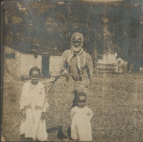 Frank Campbell, one of the 272 enslaved people sold in 1838, is photographed here in 1906, still working on a plantation in Southern Louisiana.