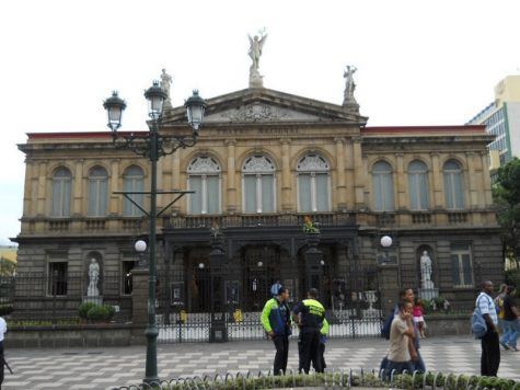 The masters program is hosted by San Jose. The Teatro Nacional of San Jose is pictured above.