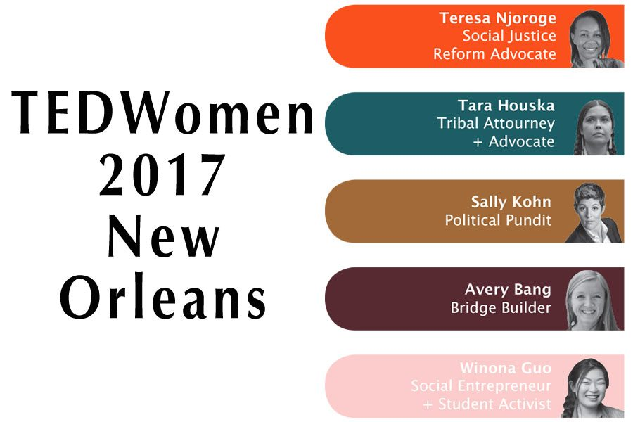 TEDTalks' women-centered conference, TEDWomen, is on its way to New Orleans, bringing speakers from around the globe to discuss this year's theme: Bridges.
