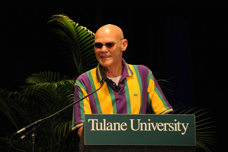 James Carville speaks at Tulane in 2010 during the Bipartisan Policy Conference. The strategist has worked at Tulane since 2006.