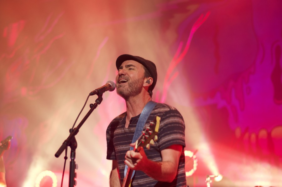 James Mercer grimaces as he belts at a high note. The performer was afflicted with a sore throat during his Nov. 14 concert.